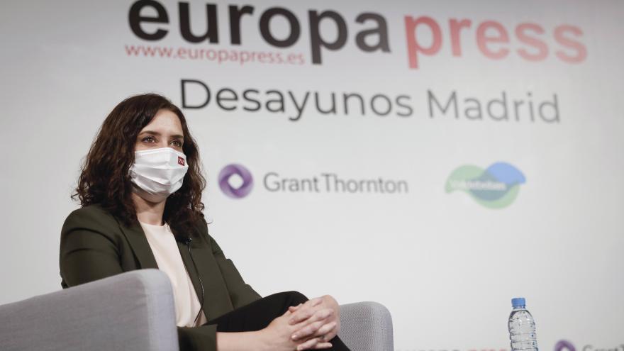 Díaz Ayuso anuncia un programa para combatir los efectos de la pandemia en los mayores