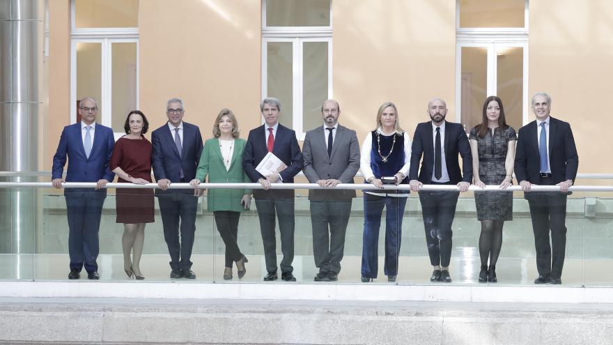 Ángel Garrido y sus consejeros