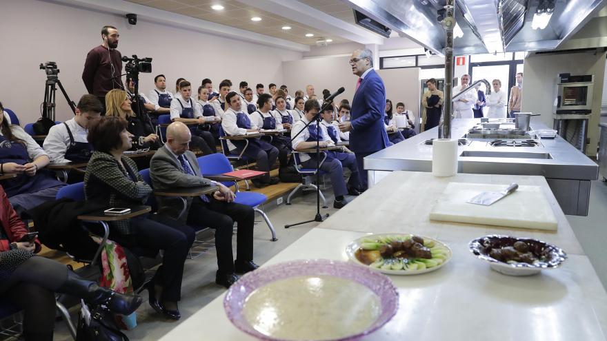 Van Grieken durante la demostración