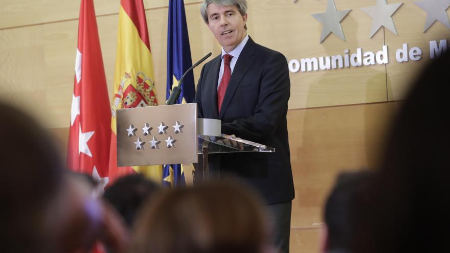 Ángel Garrido durante la presentación del balance