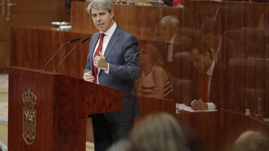 El presidente regional, Ángel Garrido, durante su intervención en la segunda jornada del Debate del Estado de la Región 2018