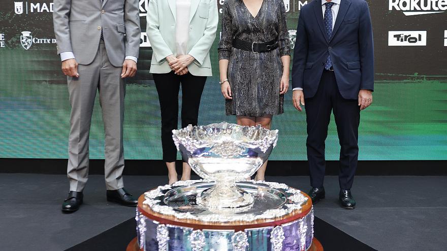 Isabel Díaz Ayuso ha presentado las finales de la Copa Davis 2021