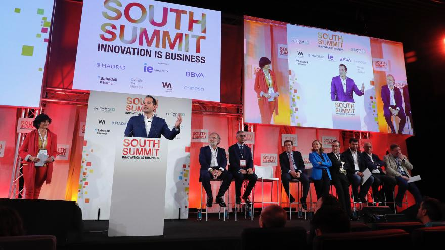 intervención de Ignacio Aguado durante el South Summit Madrid