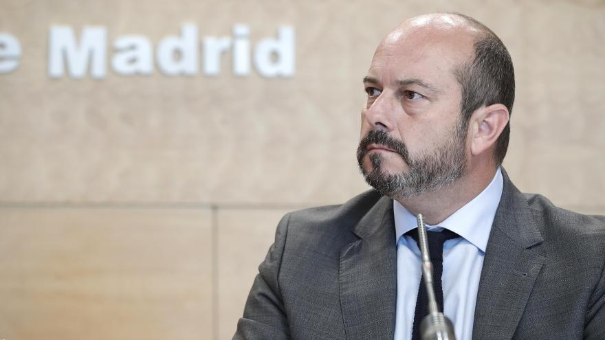 Pedro Rollán, vicepresidente, consejero de Presidencia y portavoz del Gobierno, comparece en rueda de prensa para dar cuenta de los acuerdos adoptados en el Consejo de Gobierno