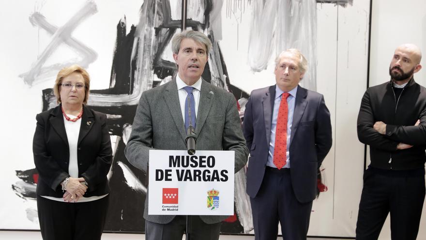 Ángel Garrido durante la inauguración