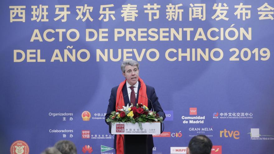 """Garrido en el acto de presentación del """"Año Nuevo Chino"""""""