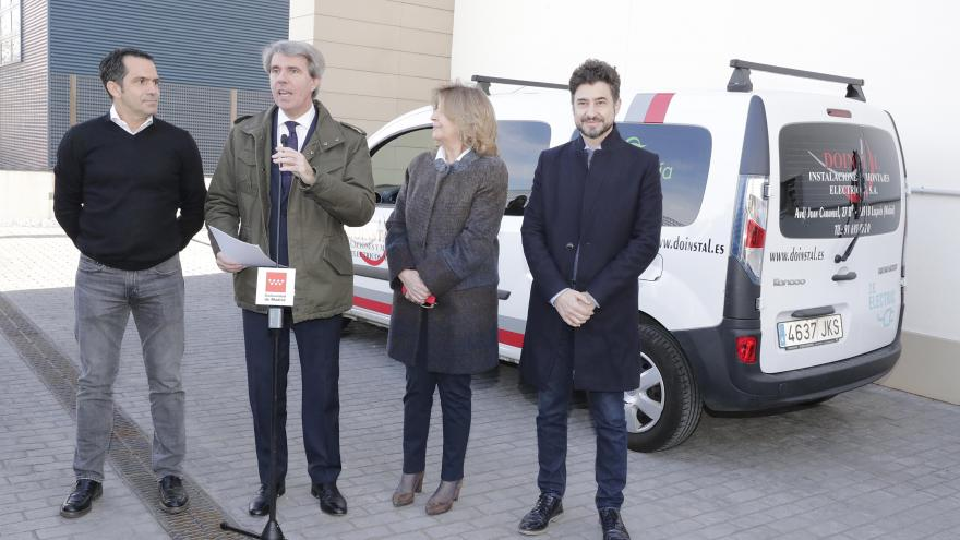 Ángel Garrido en un momento de la visita