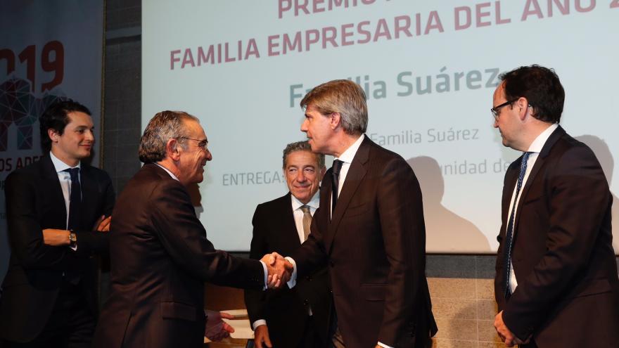 Ángel Garrido en la entrega de premios de la Asociación de la Empresa Familiar de Madrid (ADEFAM)
