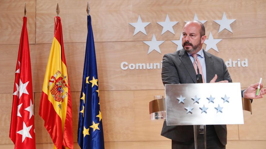Pedro Rollán en el Consejo de Gobierno