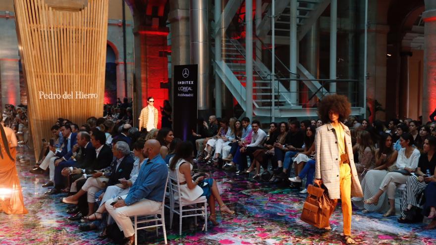 Presentación de la última creación del diseñador Pedro del Hierro para la Primavera-Verano 2020 en la Mercedes-Benz Fashion Week