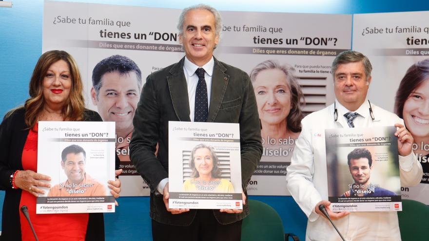 El consejero de Sanidad, Enrique Ruiz Escudero, ha presentado la campaña #YoTengoUnDon, para promover la donación de órganos
