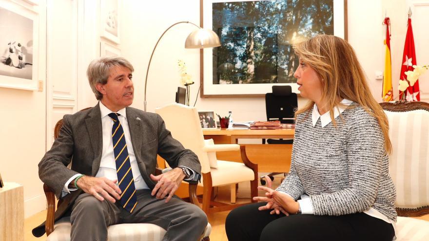 El presidente Ángel Garrido ha recibido la alcaldesa de Moraleja de Enmedio