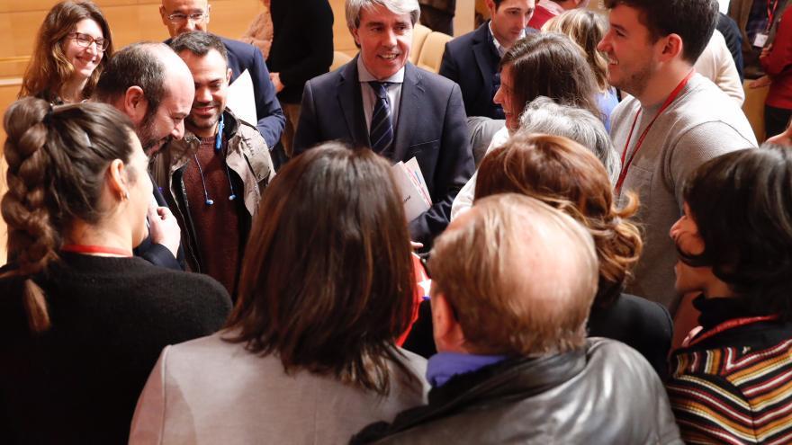 Angel Garrido después de la rueda de prensa