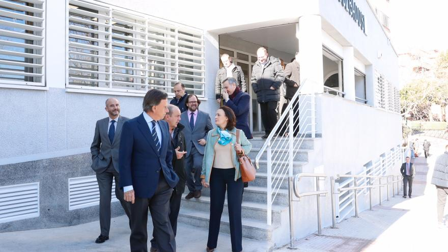 Ibarrola en la nueva sede judicial de Alcobendas