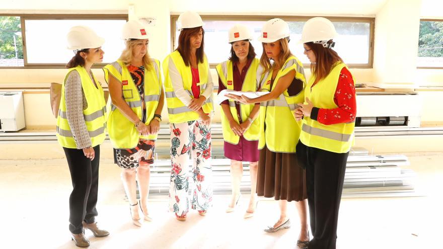 Ibarrola visita las obras de adecuación de las Antiguas Escuelas de Móstoles como sede judicial