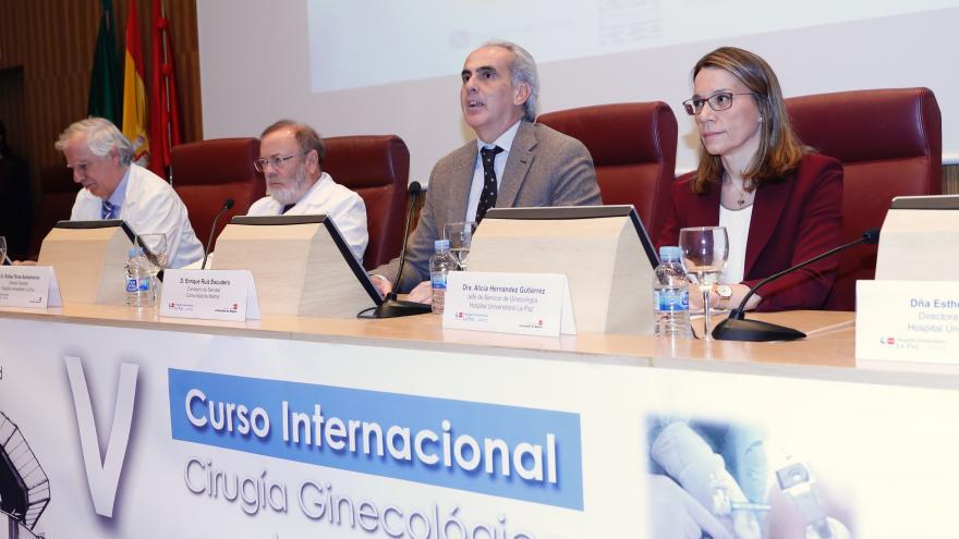 Ruiz Escudero durante la presentación