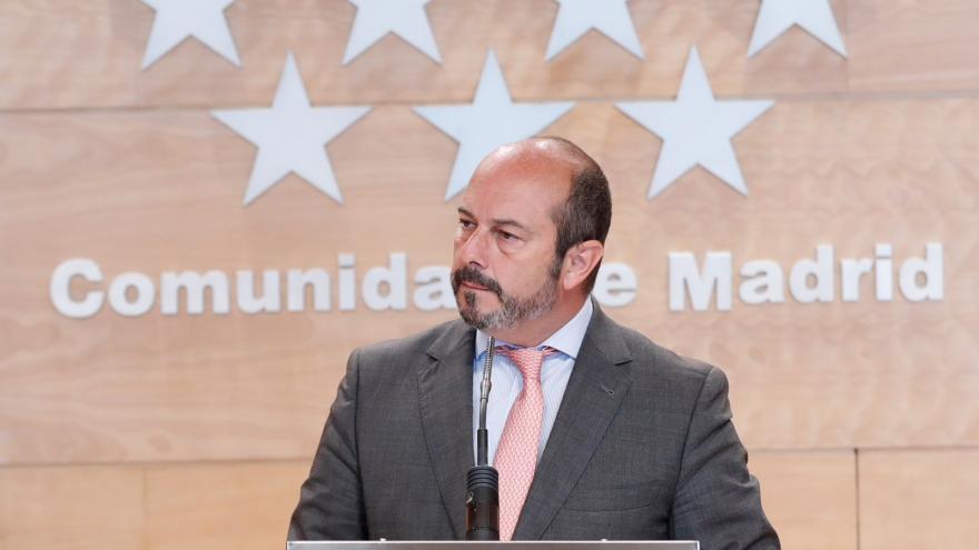 Pedro Rollán tras el Consejo de Gobierno