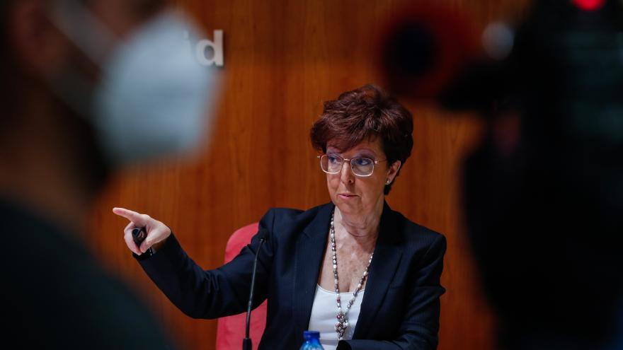 Elena Andradas, en rueda de prensa