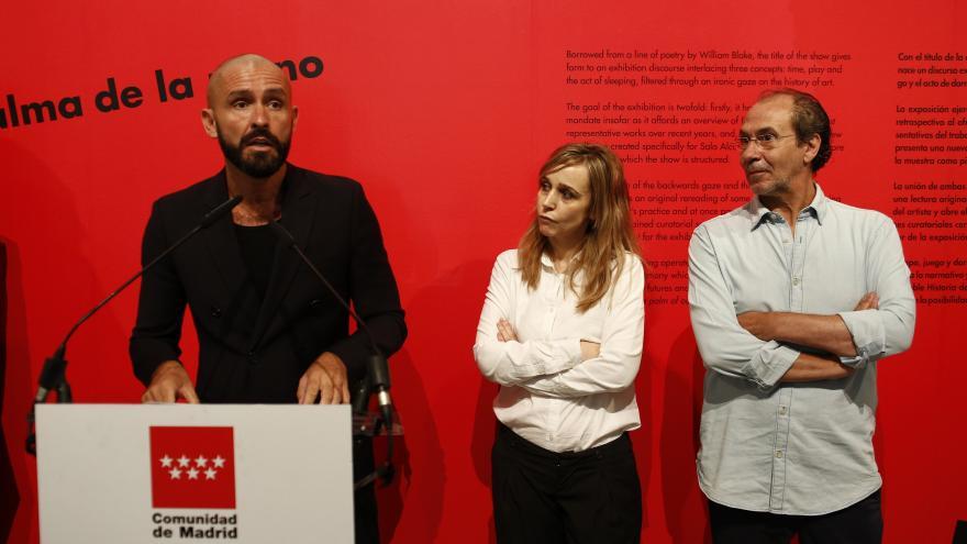 El consejero de Cultura, Turismo y Deportes, Jaime de los Santos, ha presentado la exposición