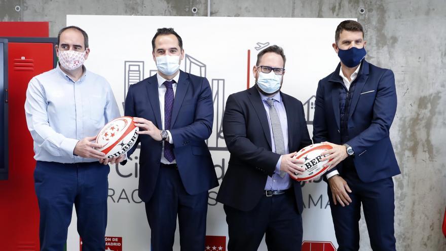 Aguado presenta la Ciudad del Rugby