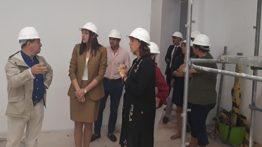 Dolores Moreno ha visitado las obras de ampliación de la Agencia