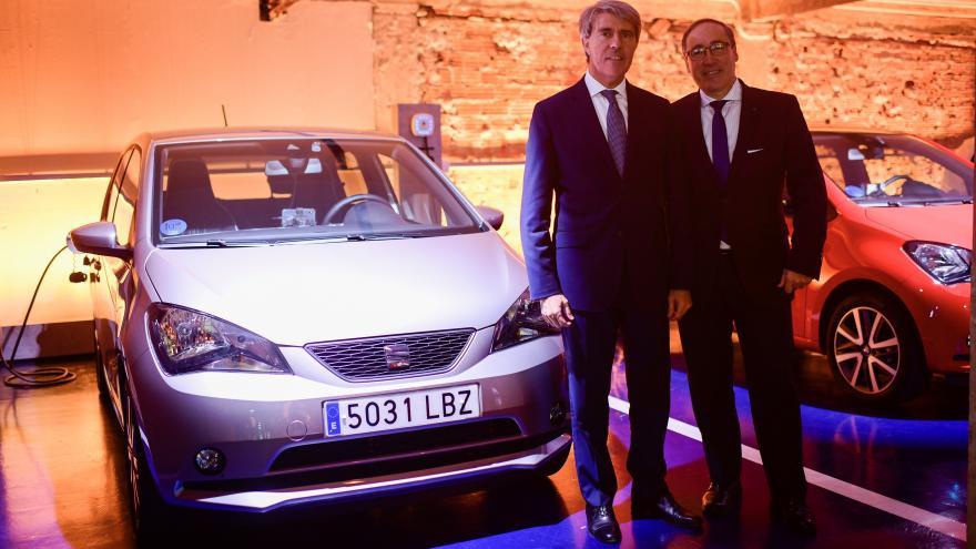Ángel Garrido, ha clausurado la presentación del primer vehículo 100% eléctrico de SEAT