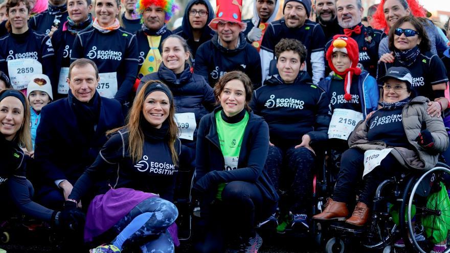 Díaz Ayuso en la IV Carrera Solidaria de la Fundación Real Madrid 2