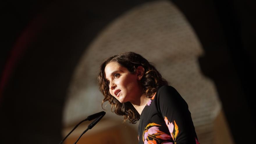 Isabel Díaz Ayuso durante la entrega de los Premios de Gastronomía de la Comunidad de Madrid