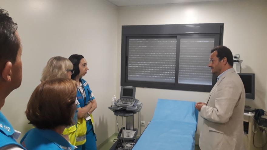 Fernando Prados Viceconsejero de Sanidad durante la visita