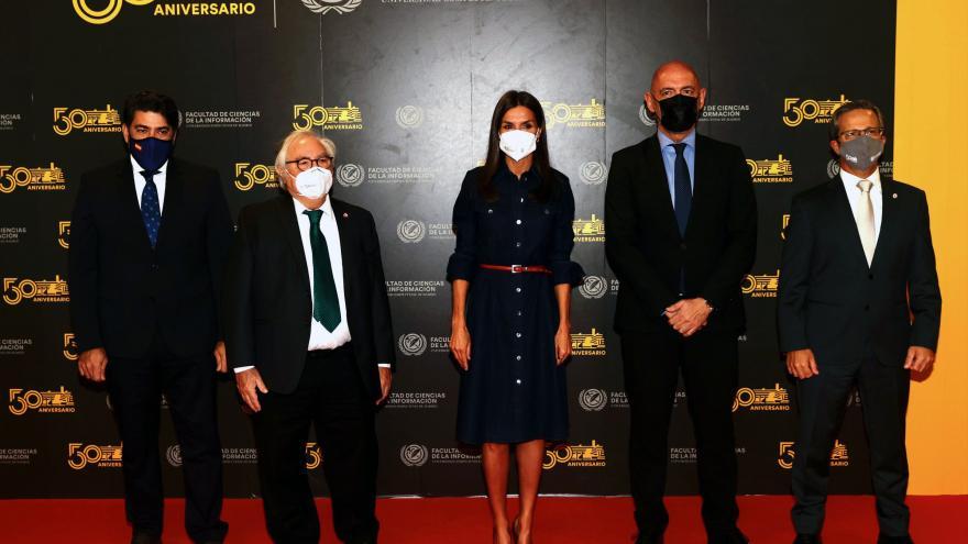 Foto oficial del consejero con el resto de personalidad al evento junto a la Reina Letizia