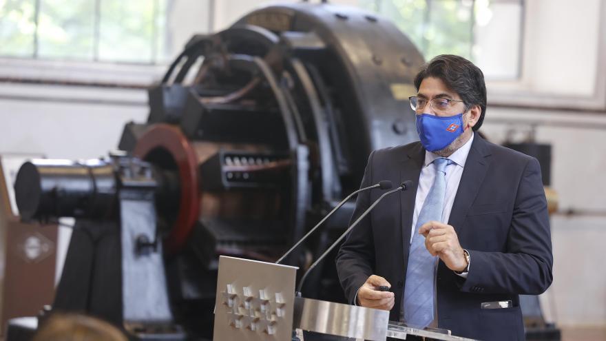 David Pérez durante la presentación de la encuesta de Percepción de Calidad del Servicio de Metro de Madrid