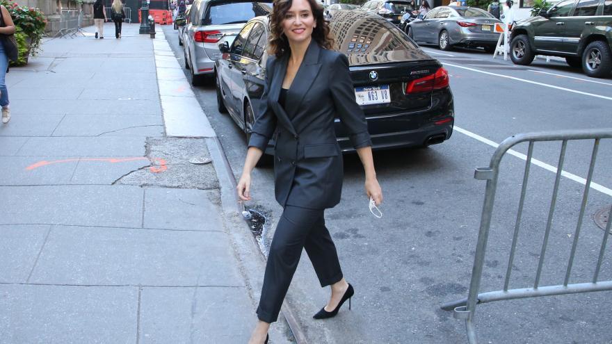 La presidenta caminando por las calles de Nueva York