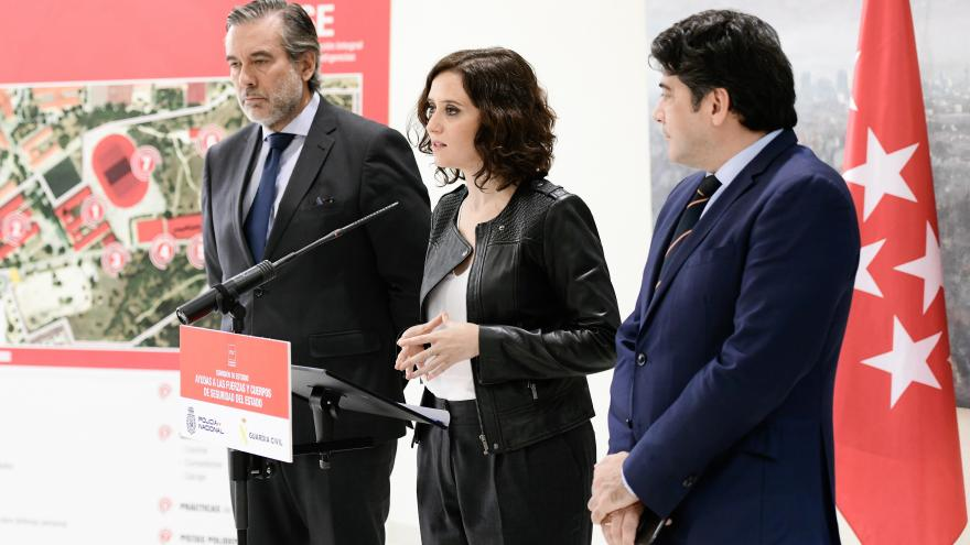 Díaz Ayuso anuncia medidas en apoyo de la Policía Nacional y la Guardia Civil