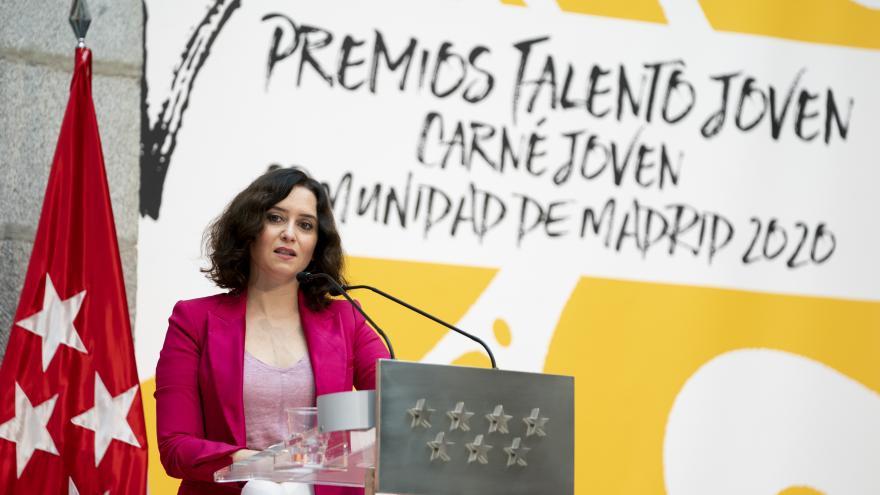 Díaz Ayuso en los Premios Talento Joven