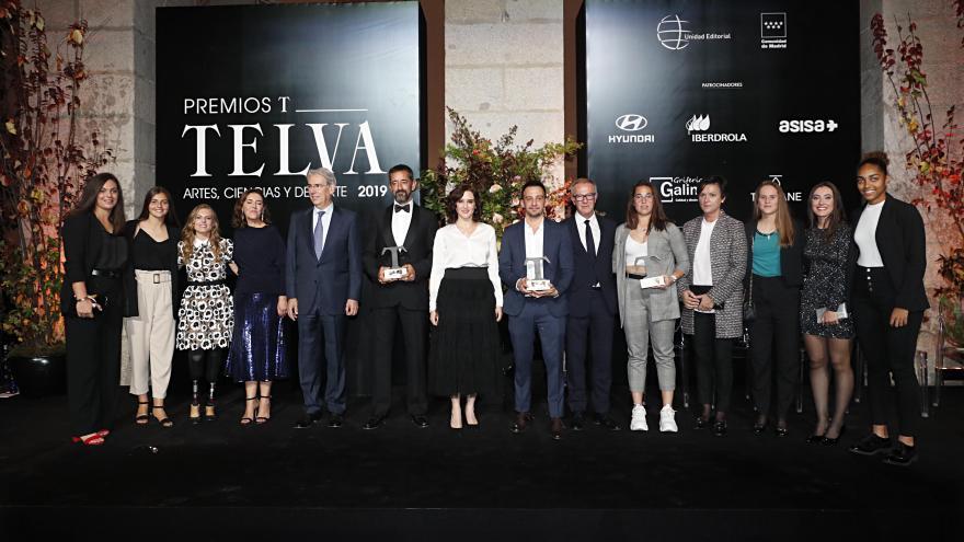 Isabel Díaz Ayuso asiste a los Premios Telva 2019