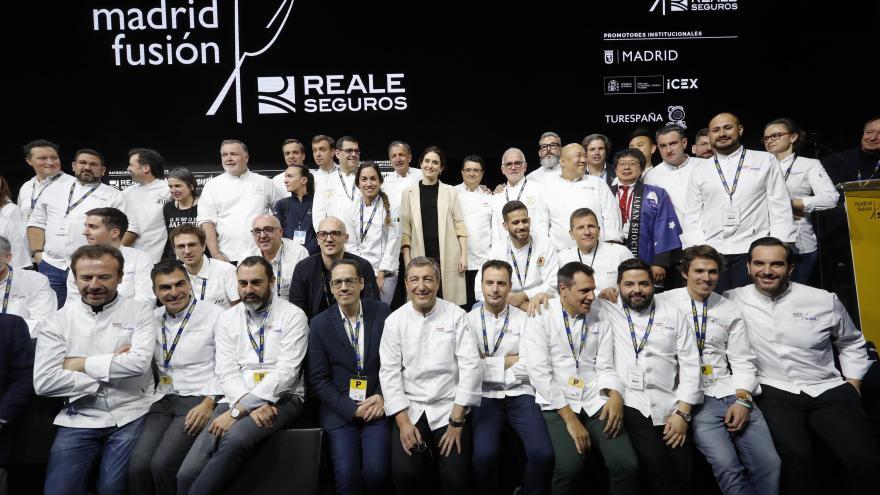 Díaz Ayuso inaugura inaugura en IFEMA la XVIII edición de Madrid Fusión