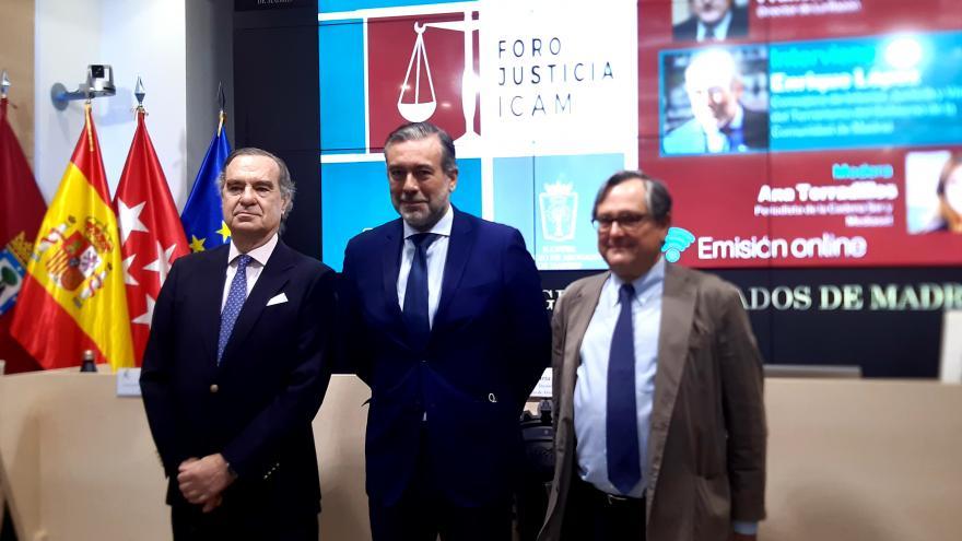 Enrique López durante su participación en el Foro Justicia ICAM