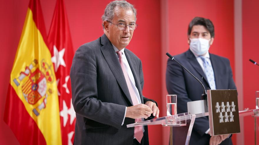 Primer plano del consejero Enrique Ossorio