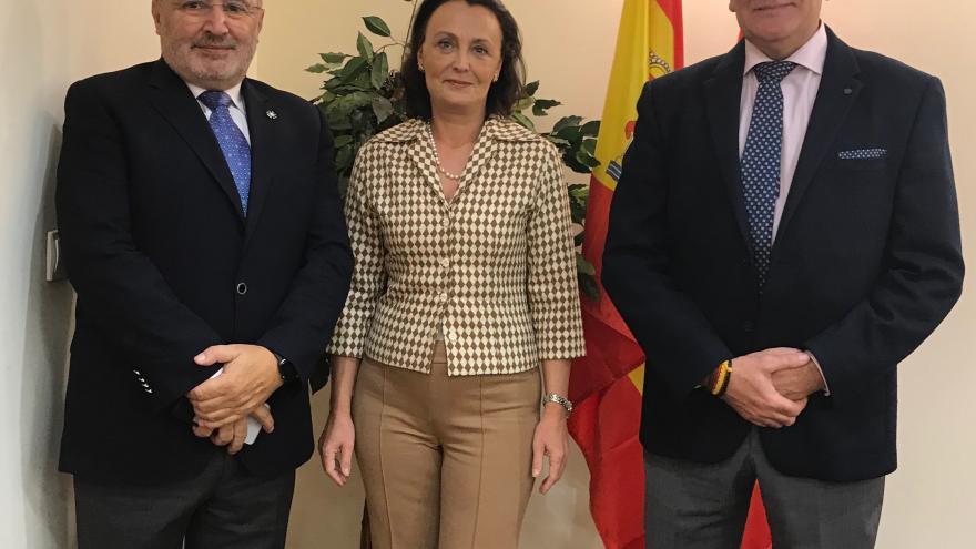 Ibarrola recibe al decano del Colegio de Criminólogos de la Comunidad de Madrid