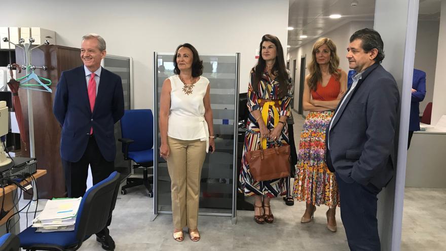 Ibarrola ha visitado en el nuevo espacio destinado a la Fiscalía