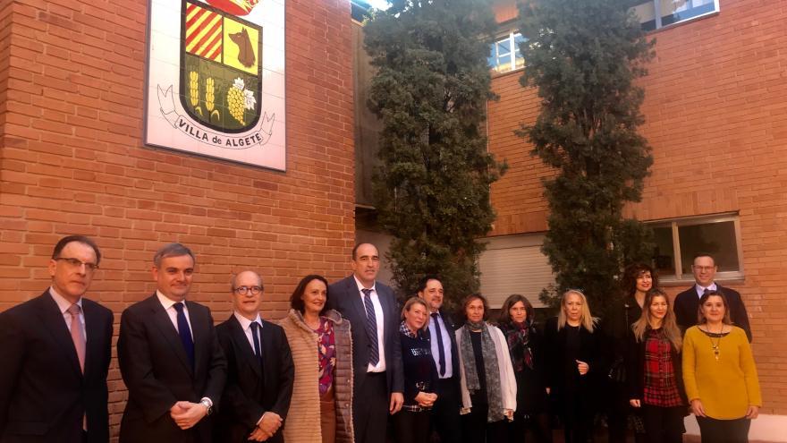 Yolanda Ibarrola durante su visita al juzgado de paz de Algete