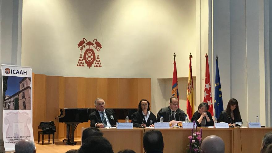 Yolanda Ibarrola en el acto institucional organizado por el Colegio de Abogados de Alcalá de Henares