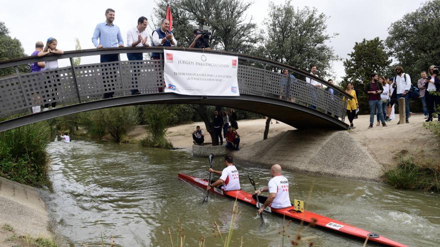 """Aguado: """"Trabajamos por la plena inclusión para llevar el deporte a toda la Comunidad de Madrid"""""""