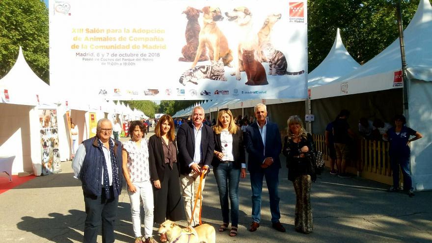 Pablo Altozano en la inauguración del XIII Salón de la Adopción de Animales de Compañía