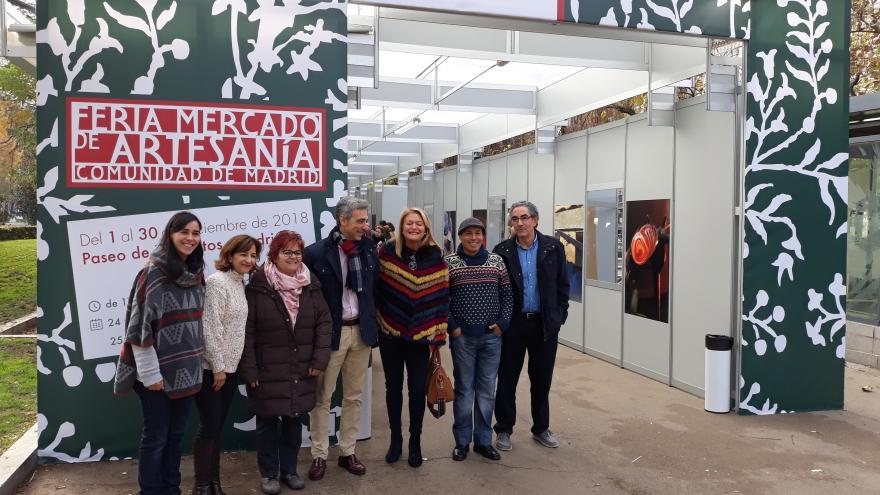 Javier Ruiz, viceconsejero de Economía, en la inauguración de la Feria de Artesanía