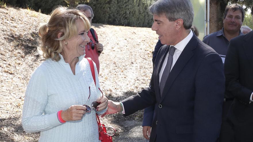 Ángel Garrido y Esperanza Aguirre