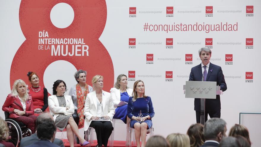 El presidente de la Comunidad de Madrid, Ángel Garrido, en la entrega de los 'Reconocimientos 8 de Marzo'