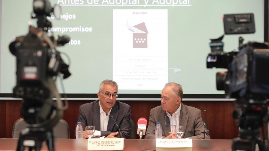 Carlos Izquierdo durante la rueda de prensa
