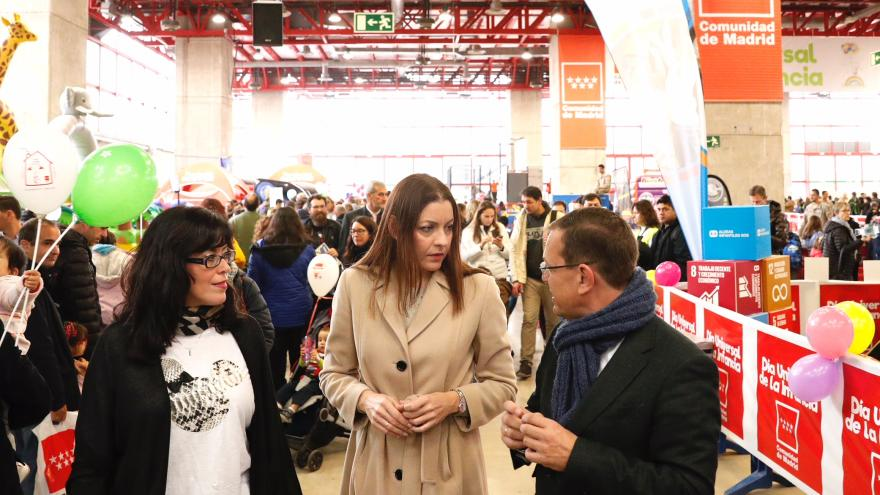 Lola Moreno en la celebración del Día Universal del Niño