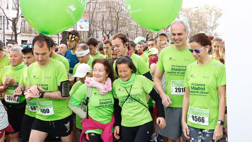 Ruiz Escudero participa en la carrera 'Madrid en Marcha Contra el Cáncer'